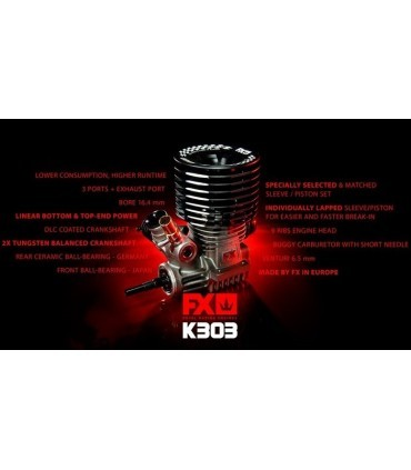 FX K303-3PORTS DLC, CERAMIC BEARING, BALANCED